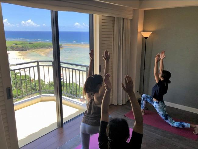 【ホテル日航アリビラ】1日1組様限定 海が見えるエステルームの個室を貸し切りリフレッシュ「エステティック&ヨガ」メニュー 期間限定販売